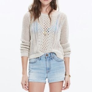 Madewell Summer Stitch Crew Neck Sweater Size L